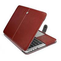 Кожаный чехол книжка TTX для Apple MacBook Retina 13 Коричневый