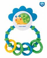 Погремушка-зубогрызка Веселый сад Зеленая улитка, Canpol babies (56/137-2)