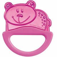 Погремушка-зубогрызка мишка (розовый), Canpol babies (13/107-6)