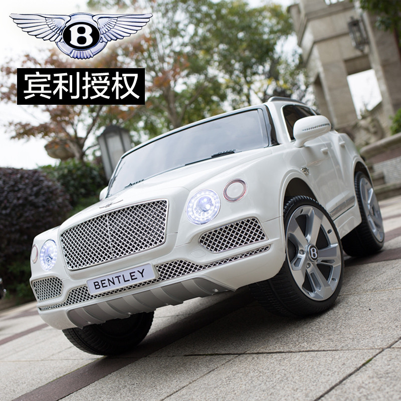 Детский электромобиль Bentley JJ 2158 ELR-1: 60W, EVA, кожа - Белый -купить оптом