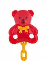 Держатель для пустышки Медвежонок красный, Canpol babies (10/903-3)