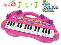 Музыкальный инструмент Синтезатор Simba 6830692 розовый