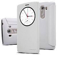 Кожаный чехол (книжка) Nillkin Spakle Series для LG G4s H734/H736 Dual белый