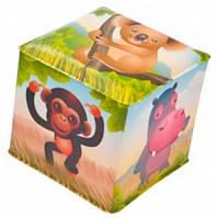 Игрушка-кубик Африка с колокольчиком, Canpol babies (2/706-3)