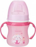 Кружка тренировочная, розовая с зайцем, 120 мл, Canpol babies (35/207-6)