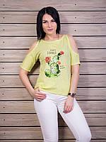 Женская футболка с рисунком кактуса