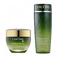 Набор по уходу за лицом Lancome energie de vie (дневной крем + тоник ) зеленый флакон,50мл+200мл