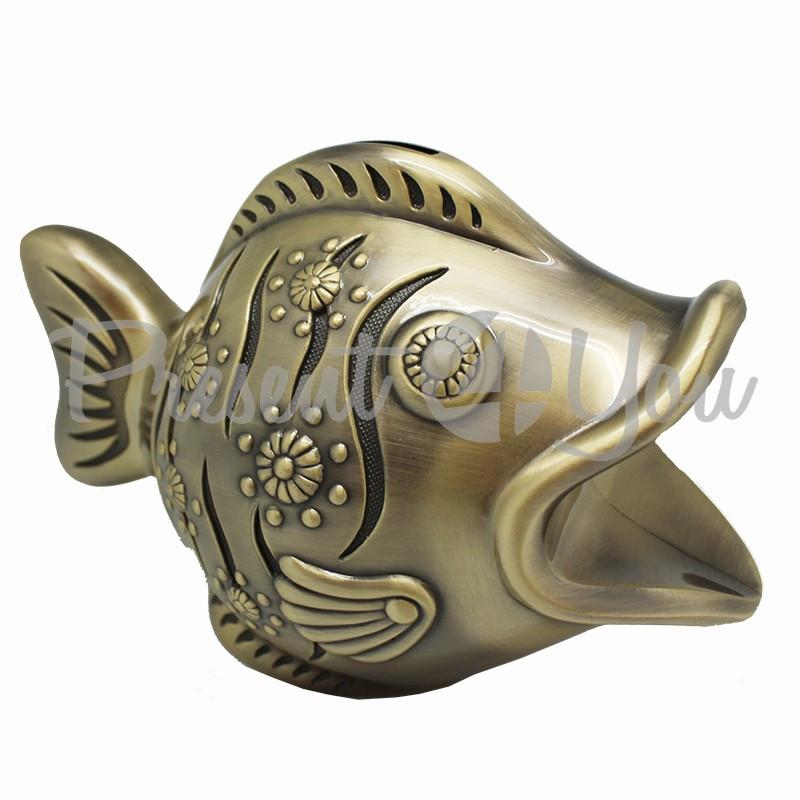 Копилка металлическая «Рыба», h-10x9х16 cм