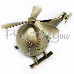 Копилка металлическая«Вертолет», h-9x7х14 см