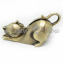 Копилка металлическая «Кот», h-9x7х1 см