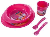 Набор посуды пластиковый Пираты, малиновый, Canpol babies (4/405-1)