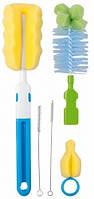 Набор ершиков для мытья бутылочек и сосок Чистюля, голубой, Canpol babies (7/403-2)