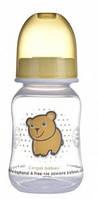 Бутылочка с узким горлышком, 120 мл, желтая,  Canpol babies (59/100-2)