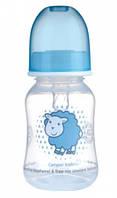 Бутылочка с узким горлышком, 120 мл, прозрачно голубая,  Canpol babies (59/100-6)