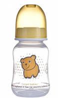 Бутылочка с узким горлышком, 120 мл, прозрачно оранжевая,  Canpol babies (59/100-7)