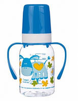 Бутылочка для кормления Ферма 120 мл (синий ослик), Canpol babies (11/823-1)