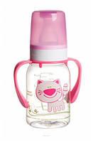 Бутылочка для кормления Ферма 120 мл (розовый котик), Canpol babies (11/823-5)