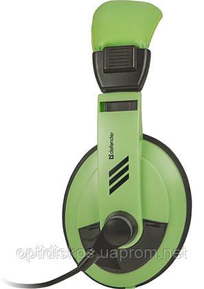 Компьютерная гарнитура Defender Gryphon, HN-750 зеленая, кабель 2 м, фото 2