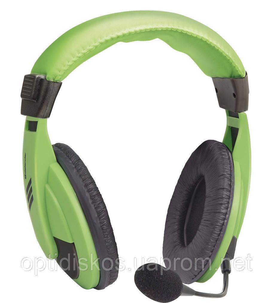 Компьютерная гарнитура Defender Gryphon, HN-750 зеленая, кабель 2 м