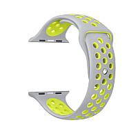 Ремешок Apple Watch Sport Nike+ 42 mm белый/желтый