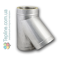 Трійник-сендвіч 87° для димоходу d 200 мм; 0,8 мм; AISI 304; нержавійка/оцинкування - «Версія-Люкс», фото 2