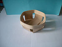 Корзинка плетенная круглая из букового шпона