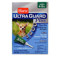 Hartz (Хартц) UltraGuard PLUS Drops H98206 капли от блох, яиц блох, клещей и комаров для собак от 2 кг 1.1мл