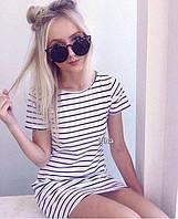 Женское стильное полосатое платье (2 цвета), фото 1