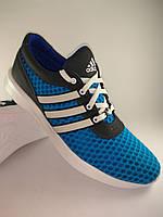 Adidas кроссовки мужские 43 Размер из натуральной кожи+сетка светло синие