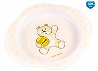 Тарелка пластиковая Мишка, Canpol babies (56/008-3)