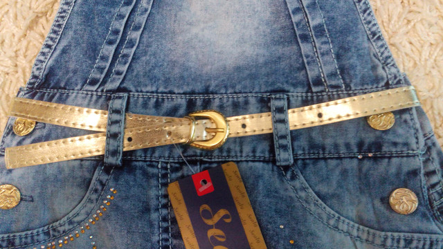 Нарядный джинсовый сарафан Paris