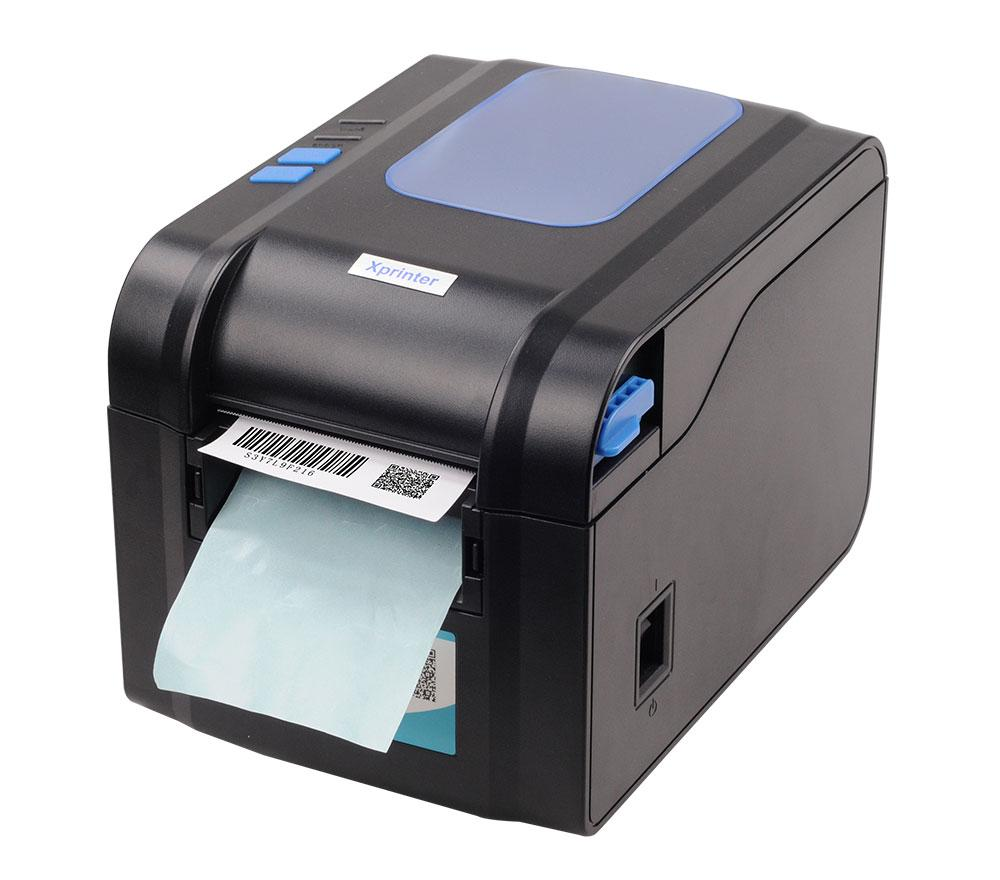 Чековый принтер Xprinter XP-370B 80мм, принтер этикеток, термопринтер