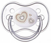 Пустышка Newborn baby силиконовая круглая, с сердечками, 6-18 мес, Canpol babies (22/563-3)