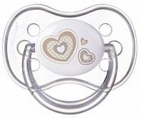 Пустышка Newborn baby силиконовая симметрическая, с сердечками, 0-6 мес, Canpol babies (22/580-3)