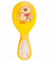 Щетка для волос Zoo с расческой (желтая), Canpol babies. (56/156-1)