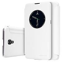 Кожаный чехол (книжка) Nillkin Spakle Series для LG K500 X Screen / X View белый