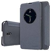 Кожаный чехол (книжка) Nillkin Spakle Series для LG K500 X Screen / X View черный