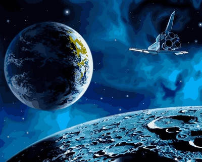 Набор-раскраска по номерам На луну и обратно, фото 2