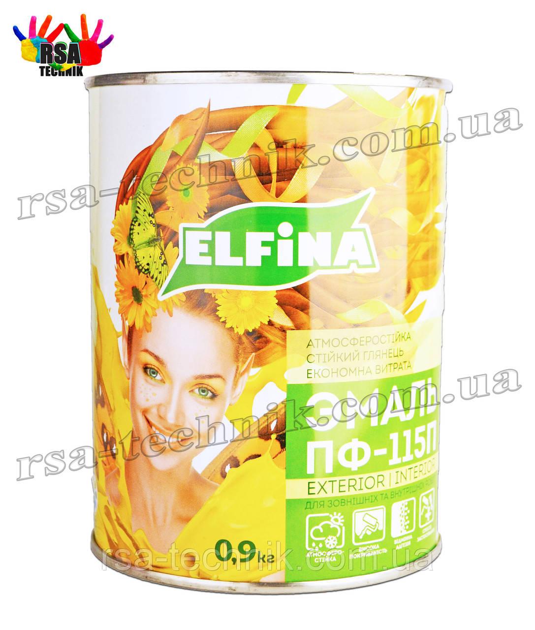 Elfina Емаль ПФ-115П Для зовнішніх і внутрішніх робіт 0,9 кг