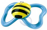 Пустышка анатомическая Веселые жучки, пчелка, 6-12м+, Nuby (5807МFSN-3)
