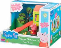 Игровая площадка Пеппы (домик с горкой, фигурка Пеппы), Peppa Pig (06149-2)