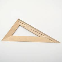 Трикутник дерев'яний 20 см, 60х90х30