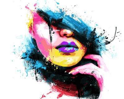 Набор-раскраска по номерам Девушка-весна Худ Патрис Мурчиано, фото 2