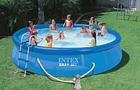 Надувной бассейн с комплектом (457х84 см), Easy Set, Intex 28180