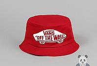 Красная модная панамка мужская Vans