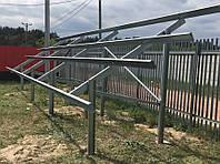 Система крепления 10 солнечных модулей на земле