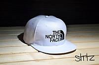 Белая рэперская кепка снепбек The North Face Snapback Cap