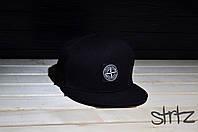 Черный снепбек,рэперская кепка Stone Island Snapback Cap