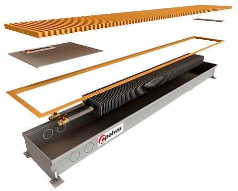Конвектор внутрипольный Polvax™ КЕ 230х90 - 1250
