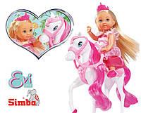 Кукла Evi Королева на Лошадке Simba 5732833